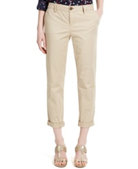 Tommy Hilfiger Straight Leg Rolled Chino Pants Travel Khaki