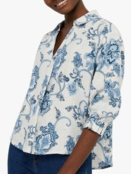 Monsoon Esther Floral Blouse Neutral