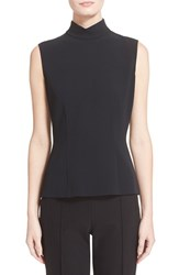 Women's Escada Mock Turtleneck Sleeveless Blouse