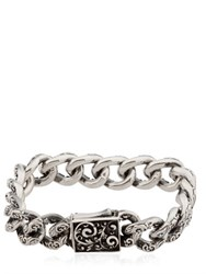 Cantini Mc Firenze Engraved Chain Link Bracelet