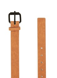 Topman Brown Washed Tan Faux Suede Belt