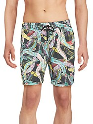 Billionaire Printed Swim Shorts White