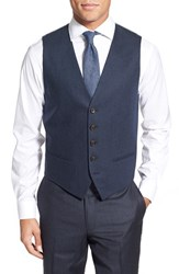 Men's Nordstrom Herringbone Wool Vest Navy