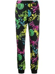 Versace Jeans Couture Ornate Print Track Trousers Black