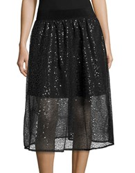Necessary Objects Sequined A Line Skirt Purple