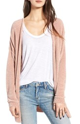 Women's Bp. Chenille Cardigan Pink Compact