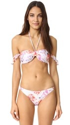 Minkpink Holiday Fling Off Shoulder Bikini Top Multi