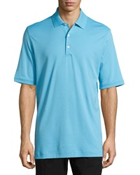 Bobby Jones 120S 2 Ply Solid Supreme Polo Shirt Surf Blue