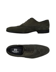 Fabiano Ricci Lace Up Shoes Military Green