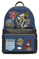 Dolce And Gabbana Denim Backpack With Patches