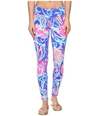 Lilly Pulitzer Weekender Leggings Iris Blue Jellies Be Jammin Women's Casual Pants Multi