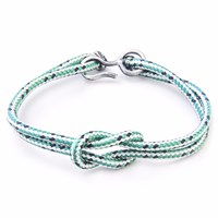 Anchor And Crew Green Dash Foyle Rope Bracelet