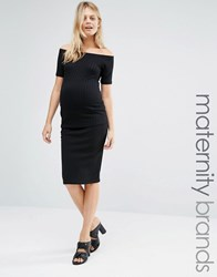 New Look Maternity Bodycon Midi Skirt Black