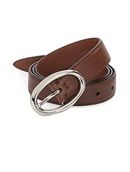Brunello Cucinelli Leather Belt Medium Brown