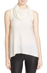 Alice Olivia Women's 'Sharry' Cowl Neck Sleeveless Wool And Cashmere Pullover Cream
