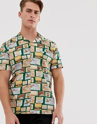 Hymn Beermat All Over Print Short Sleeve Shirt Multi
