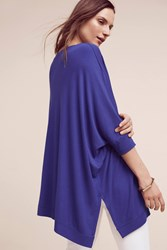 Anthropologie Jane Ribbed Tunic Blue