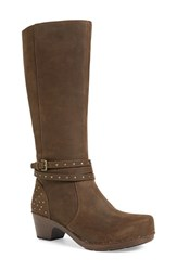 Women's Dansko 'Myrna' Boot Brown Milled Nubuck