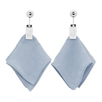 Jacquemus Silver And Blue Les Mouchoirs Earrings