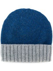Dell'oglio Knitted Cashmere Hat Blue