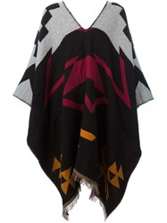 Marcelo Burlon County Of Milan 'Alma' Poncho Multicolour