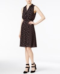 Maison Jules Printed Shirtdress Only At Macy's Black Combo