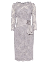Anoushka G Megan Lace Dress With Embellishment Grey