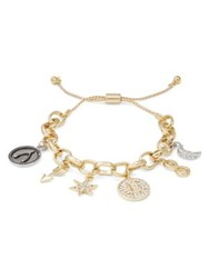 Rj Graziano E Initial Adjustable Charm Bracelet Gold
