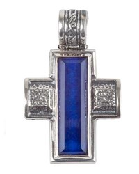 Konstantino Men's Hephaestus Sterling Silver And Lapis Cross Pendant Blue
