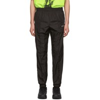 Off White Black Light Nylon Jogging Lounge Pants