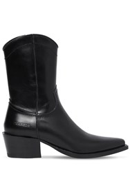Dsquared 50Mm Arizona Leather Cropped Boots Black