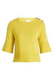 Barrie Trin Trin Cashmere Sweater Yellow