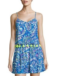 Lilly Pulitzer Ramona Printed Cropped Top And Skort Blue Multicolor