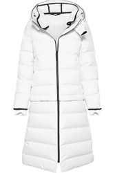 Templa 3L Verba Convertible Hooded Quilted Down Ski Coat White