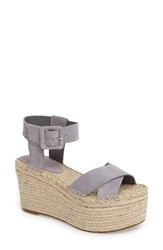 Marc Fisher Women's Ltd 'Randall' Platform Wedge Light Blue Suede