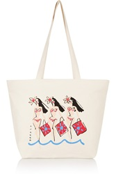 Solid And Striped Donald Robertson Dottie Printed Canvas Tote