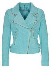 Freaky Nation Leather Jacket Mojito Turquoise