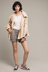 Anthropologie Wanderer Rolled Hem Shorts Moss