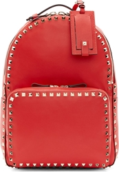 Valentino Vermilion Medium Rockstud Backpack