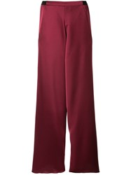 Christopher Esber Bias Contrast Waistband Trousers Red