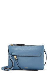Vince Camuto Gally Leather Crossbody Bag Blue Blue Heaven