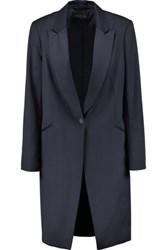 Rag And Bone Sheffield Wool Crepe Coat Midnight Blue