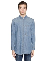 G Star Oversize Cotton Denim Shirt