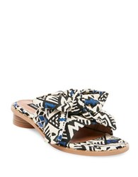 Design Lab Lord And Taylor Rio Fabric Slide Sandals Aztec Multicolor