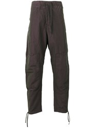 Stone Island Shadow Project Iridescent Effect Loose Fit Trousers Grey