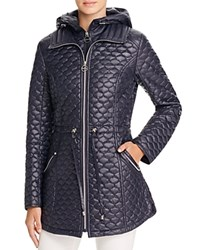 Laundry By Shelli Segal Drawcord Waist Quilted Jacket Mystic Blue