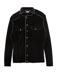 Y Project Pop Up Velvet Jacket Black
