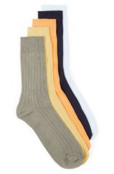 Topman Men's 5 Pack Ribbed Socks