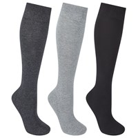 John Lewis Cotton Rich Knee High Socks Pack Of 3 Charcoal Multi