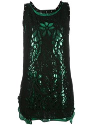 N 21 No21 Sequin And Lace Open Back Dress Women Silk Cotton Polyamide 40 Black